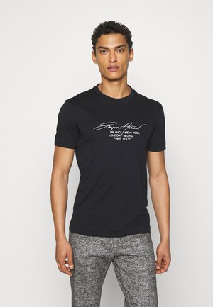 T-shirt print - blu navy