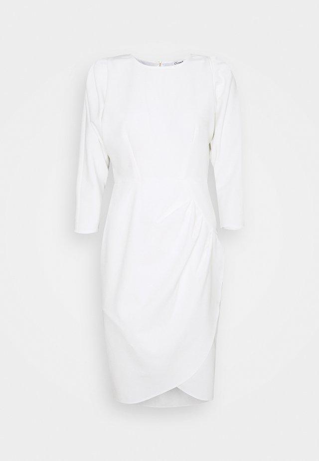 CLOSET PLEATED PENCIL DRESS - Cocktail dress / Party dress - ivory