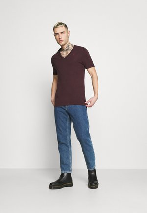 BASE V T 2 PACK - T-shirt basic - bordeaux/dark red