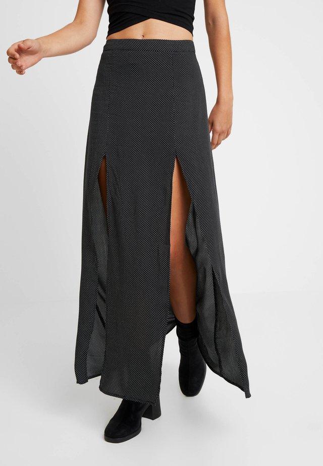 DOT SKIRT - Maxi skirt - black