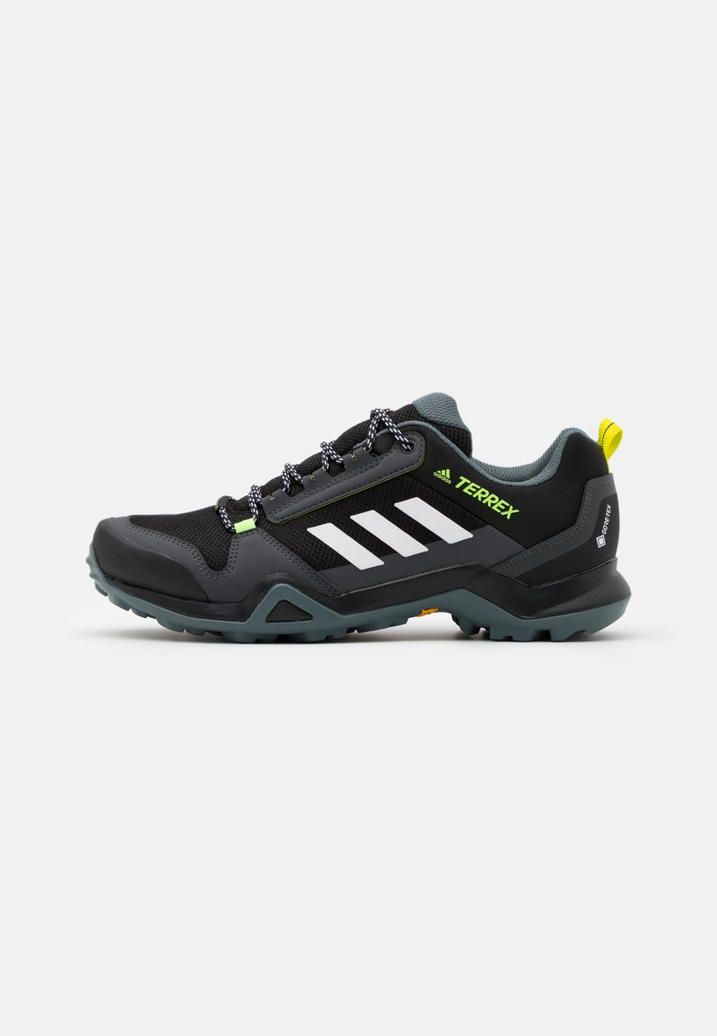 adidas Performance - TERREX AX3 GTX - Hiking shoes - core black/footwear white/acid yelllow