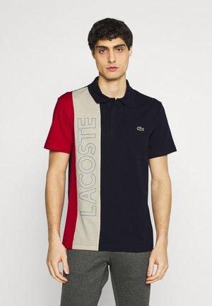 Polo shirt - marine/naturel clair/rouge