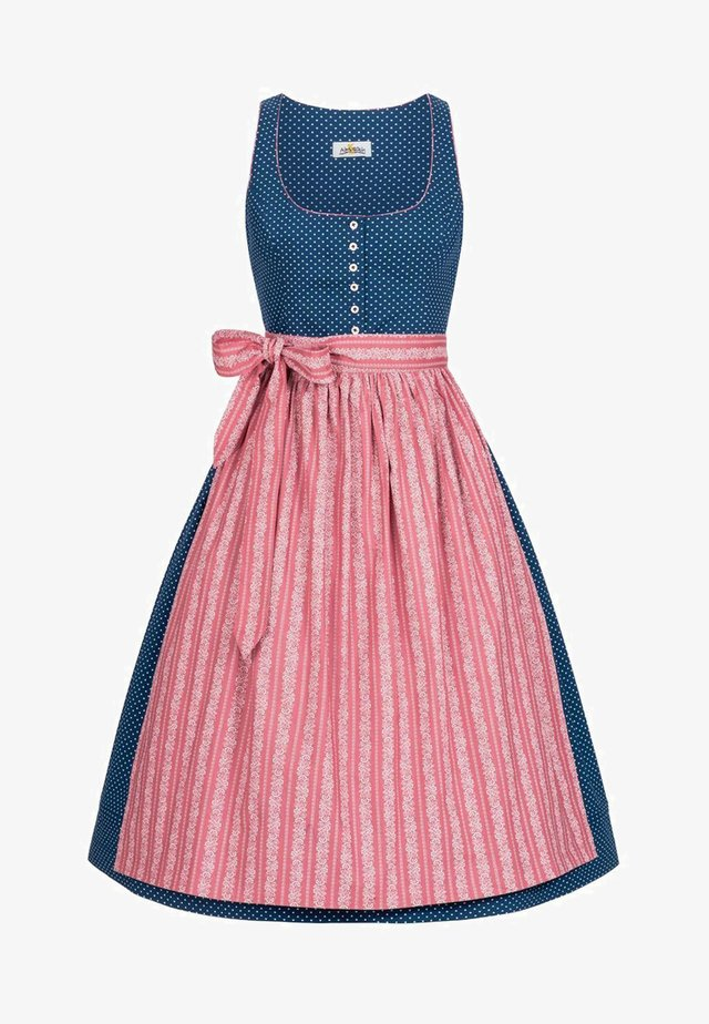MAREN  - Dirndl - blue/dusky pink