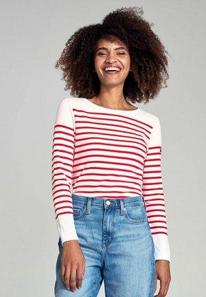 AMIRAL MARINIÈRE - Long sleeved top - blanc/braise