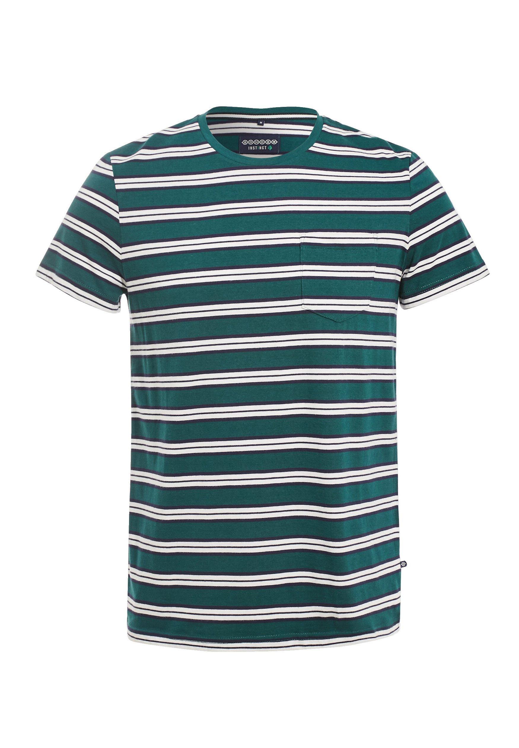 Bonobo Jeans Umweltfreundliches - T-shirt Print Vert Foncé