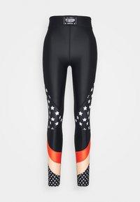 OFF SIDE LEGGING - Leggings - multi-coloured/black/coral