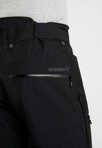 Norrøna - LOFOTEN GORE-TEX INSULATED PANTS - Spodnie narciarskie - caviar - 7