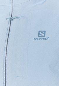 Salomon - OUTRACK WATERPROOF JACKET  - Hardshell jacket - ashley blue/ebony - 2