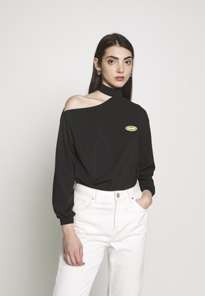 AOP BODY - Long sleeved top - black