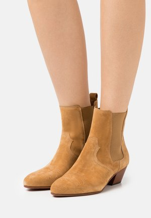 ANISE - Cowboy/biker ankle boot - bamboo
