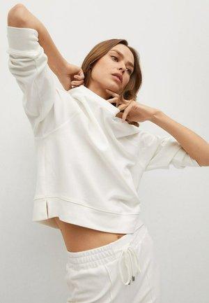 BASIC SWEATSHIRT - Sweatshirt - cremeweiß