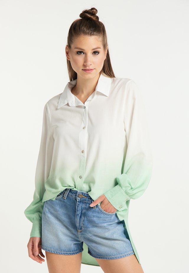 Button-down blouse - weiss wasser
