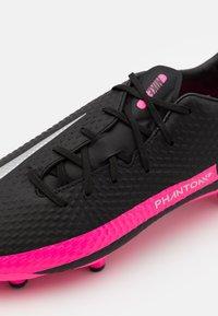 Nike Performance - PHANTOM GT ACADEMY FG/MG - Moulded stud football boots - black/metallic silver/pink blast - 5