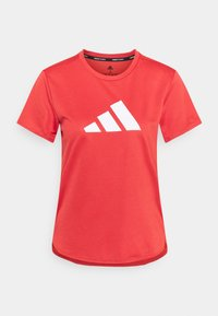 LOGO TEE - Print T-shirt - crew red/white