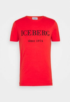 Print T-shirt - rosso fuoco