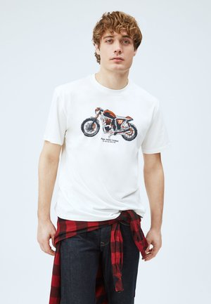 T-shirt con stampa - blanco off
