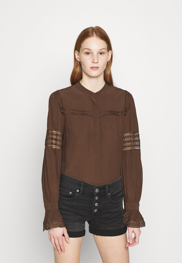 VMBEATE DETAIL - Blouse - rocky road
