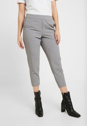 OBJCECILIE 7/8 PANTS - Kalhoty - medium grey melange