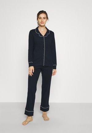 BEAUTIFUL BASICS LONGSLEEVE LONG PANTS - Pyjamas - navy