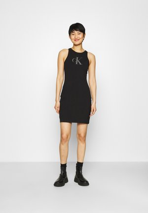 BONDED RACER BACK DRESS - Vestido de tubo - black