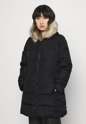 LONG PUFFER - Winter coat - true black