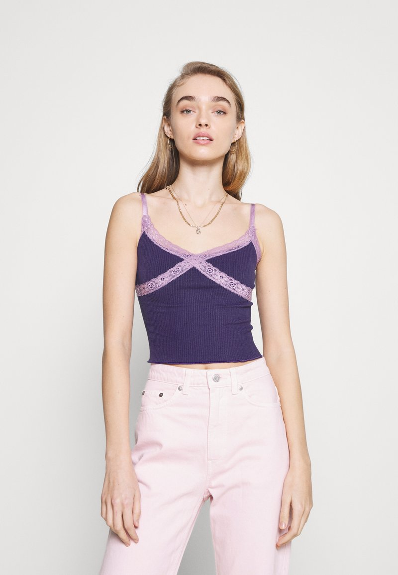 BDG Urban Outfitters - CROSS ALICE CAMI - Top - grape