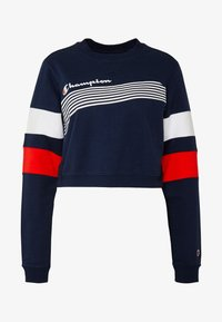Champion - CREWNECK CROPTOP - Sweatshirt - dark blue - 4