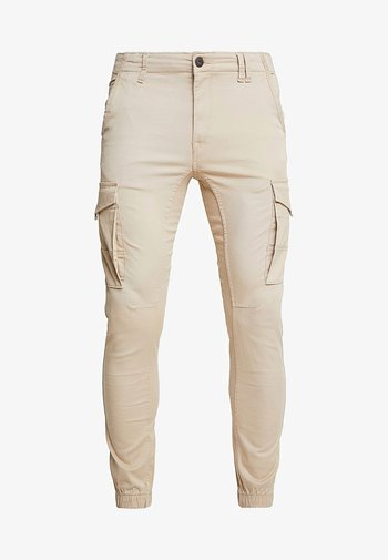 JJIPAUL JJFLAKE - Pantaloni cargo - white pepper