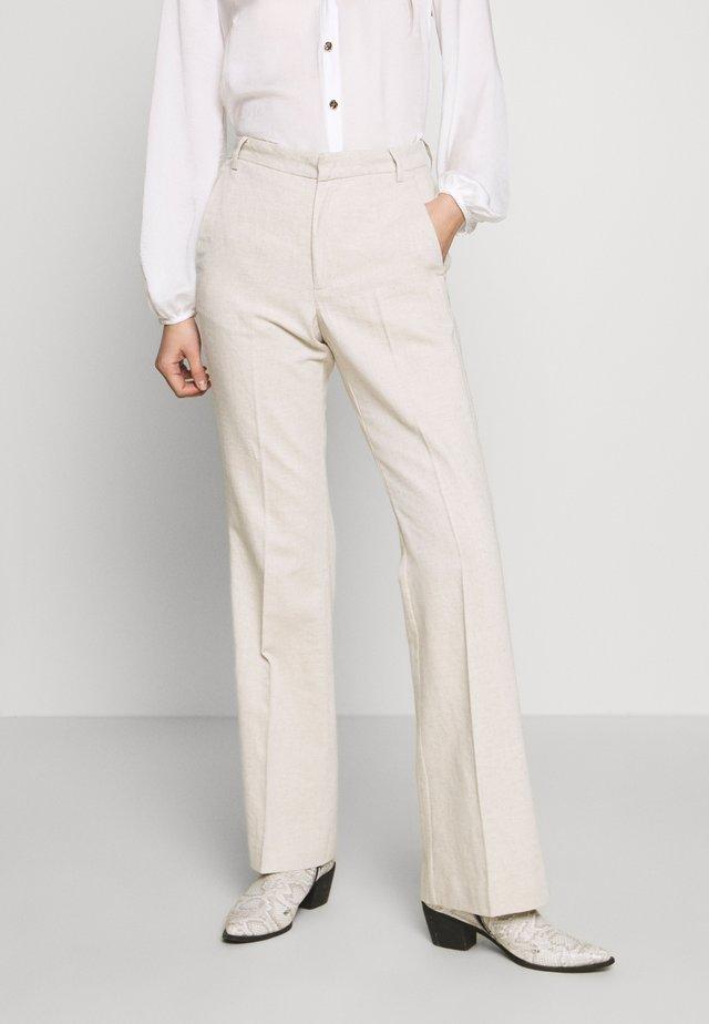 NILIA PANT - Kalhoty - ecru