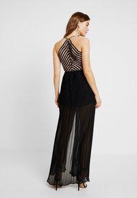 Rare London - SEQUIN PLUNGE DOUBLE SPLIT DRESS - Occasion wear - black - 3