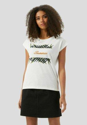 KIMONO SLEEES - T-shirt con stampa - bianco lana