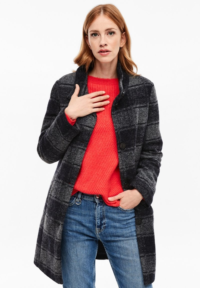 s.Oliver - MANTEL - Classic coat - navy check