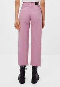 Bershka - Džíny Straight Fit - pink - 2