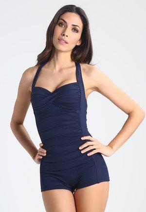 BOYLEG ONE PIECE - Swimsuit - indigo