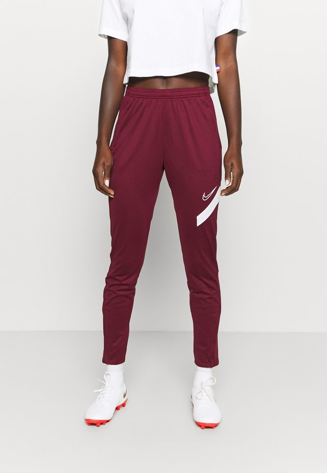 DRY ACADEMY 20 PANT - Tracksuit bottoms - dark beetroot/white