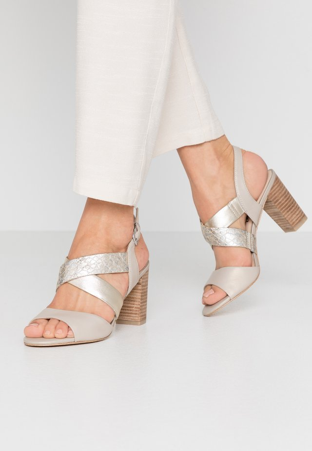 High heeled sandals - cream