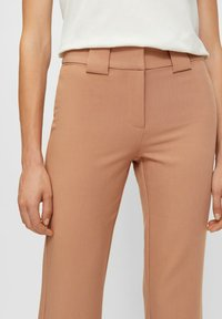 YAS - YASNUTEO FLARE PANT - Trousers - tawny brown - 3