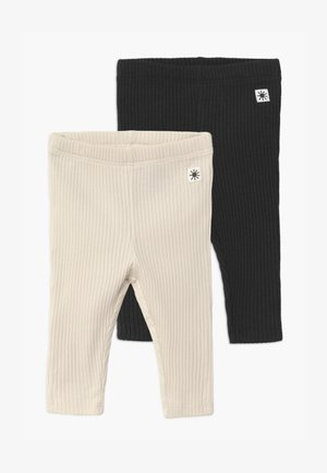 2 PACK UNISEX - Leggings - Trousers - off black