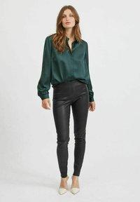 Vila - VIELLETTE - Button-down blouse - darkest spruce - 1