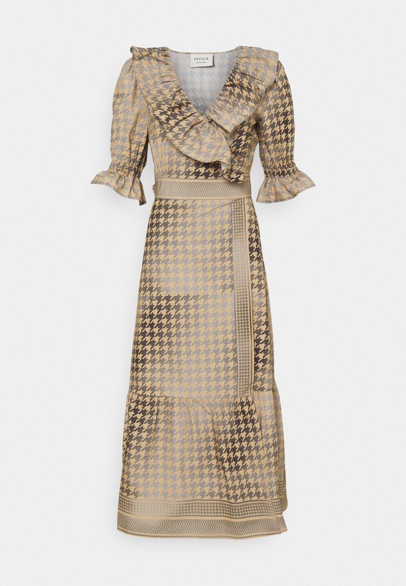 CECILIE copenhagen - RUBY WRAP DRESS - Cocktail dress / Party dress - frost grey