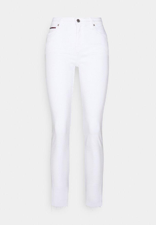 NORA ANKLE - Skinny džíny - white denim