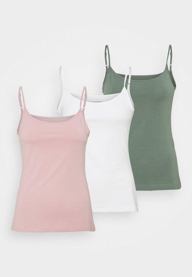 3 PACK - Top - light pink/white/khaki