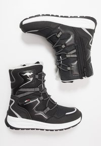 KangaROOS - K-LUCKY RTX - Lace-up boots - jet black/silver - 0