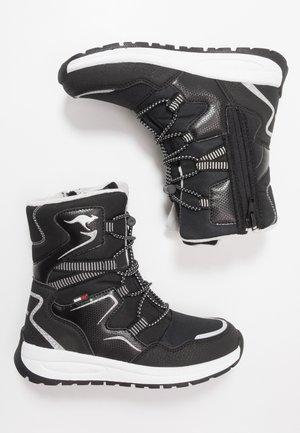 K-LUCKY RTX - Šněrovací vysoké boty - jet black/silver