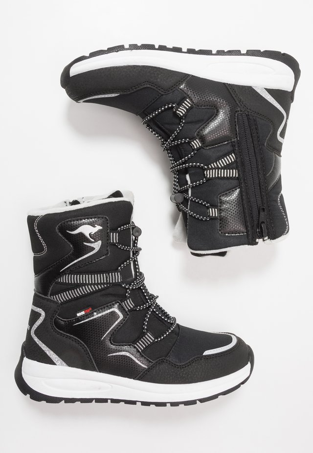 K-LUCKY RTX - Lace-up boots - jet black/silver