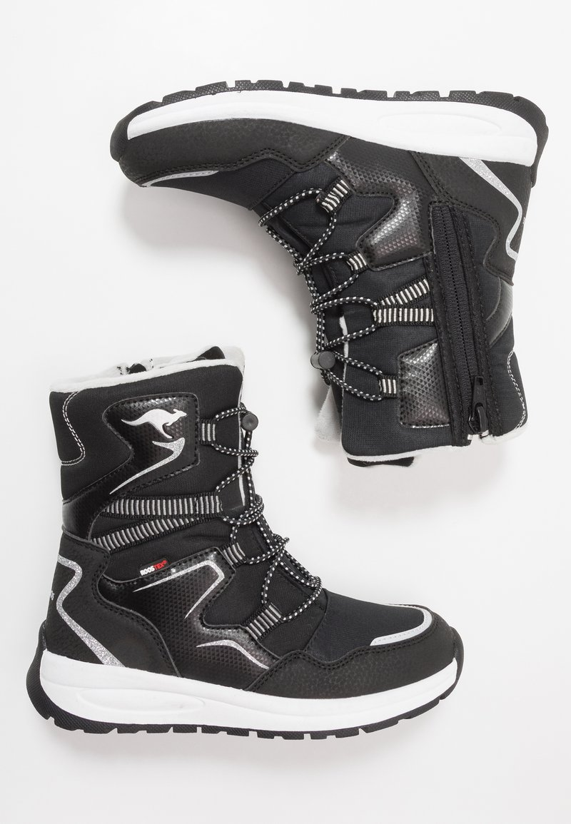 KangaROOS - K-LUCKY RTX - Lace-up boots - jet black/silver
