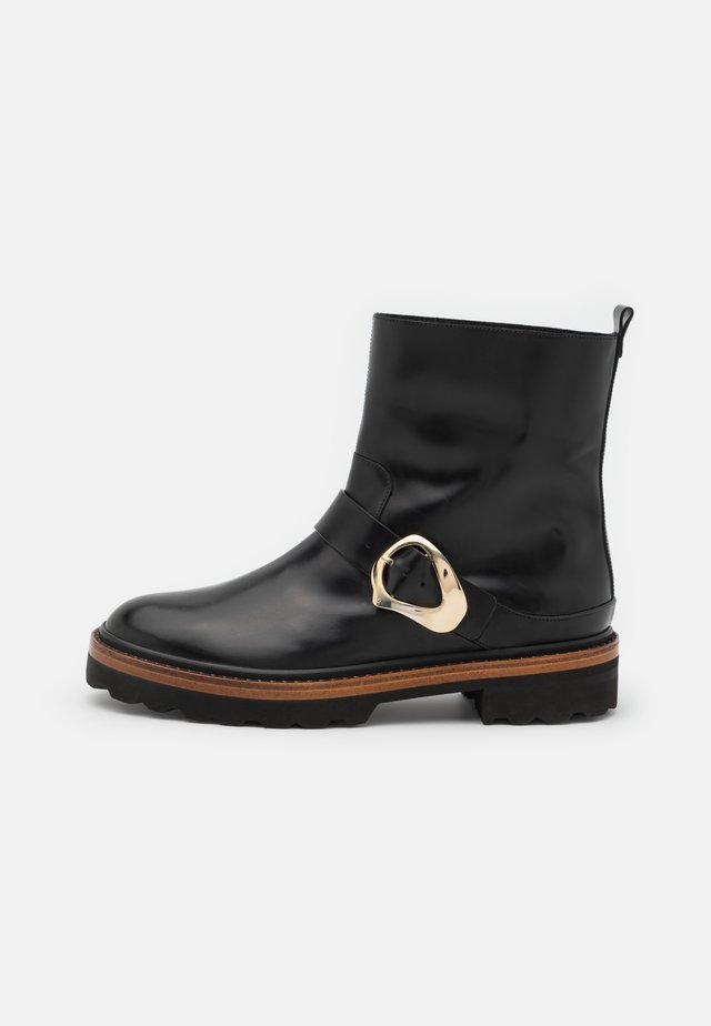 Cowboy/biker ankle boot - dexter light nero