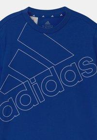 adidas Performance - LOGO UNISEX - Print T-shirt - royal blue/white - 2