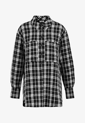Button-down blouse - schwarz/ecru/weiss karo