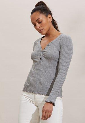 LINDSAY - Long sleeved top - grey melange